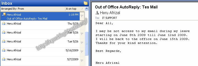 how to put auto reply on outlook 2010