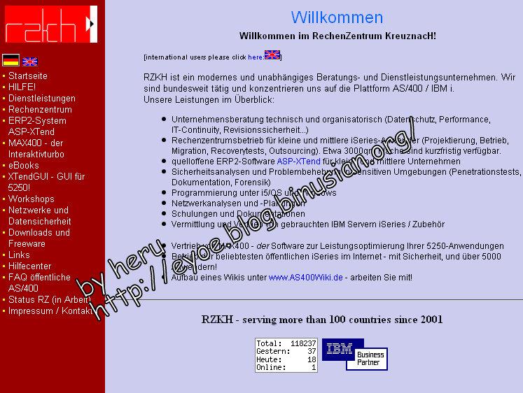 Halaman depan www.rzkh.de